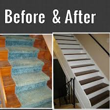 carpet paint. painted stairs: we remove the carpet, sanded \u0026 stairs, spray carpet paint