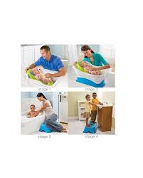 summer infant right height bath tub blue baby jpg 570x708 right height