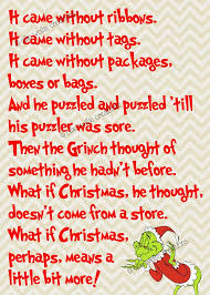 Image result for lines in grinch when he learns what christmas is