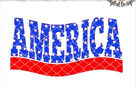 american flag word art america word art svg png eps dxf ai fcm patriotic svg