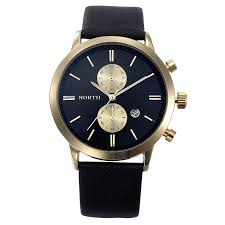 military waterproof leather black gold mens watch lazada ph image