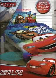 single bed quilt cover set disney pixar cars licensed boys buds to the finish 9314935821731