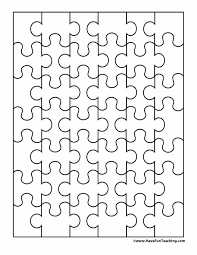 Printable Jigsaw Puzzle Maker 19 Printable Puzzle Piece Templates Template Lab