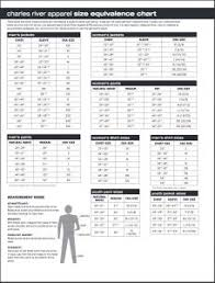 Charles River Apparel Size Chart Overview And Downloadable