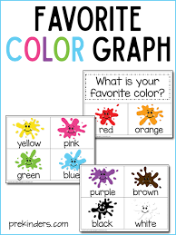 Preschool Charts And Graphs Favorite Color Graph With Print Cut Printable Prekinders