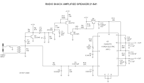 """radio shackâ""""¢ archerâ""""¢ and realisticâ""""¢ information index radio shack amplified mobile extension speaker model 21 541 schematic"""