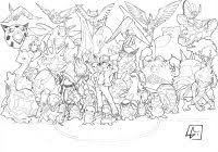 Coloring Pages For Kids Pokemon Legendary Dogs With Legendary