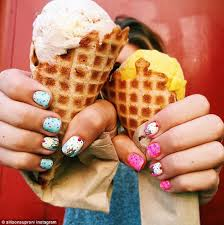 Ice cream nail art is taking Instagram and Pinterest feeds by storm ...