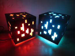 Minecraft Led Light Large Minecraft Inspired Glowing Ore Cube Led Lamp Remote