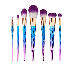 amazon facelink rainbow unicorn makeup brushes 7 pieces makeup brush set professional face eyeliner blush contour foundation cosmetic brushes 7 1pcs