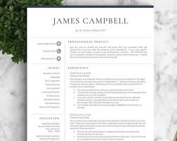resume template professional resume template for word pages cover letter one two three page resume template instant download proffesional resume templates