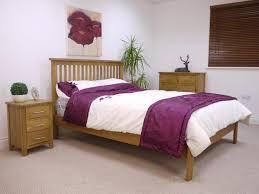 Modern Oak Bedroom Furniture Nebraska Modern Oak 50 King Size Bed Oak City