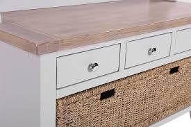 Oak Coat Rack With Baskets Oak and Light Grey Hall Tidy Bench with Coat Rack Mirror 100 Drawer 85