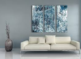 black white blue wall art