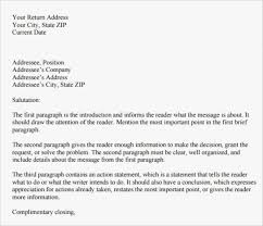Format For Personal Letters Standard Letter Suitable Also