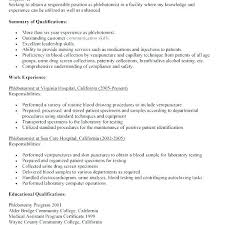 Phlebotomist Resume Enchanting Phlebotomy Cover Letter Sample Download Entry Level Resume