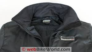 gerbing microwire heated jacket liner review webbikeworld gerbing s microwire heated jacket liner collar close up