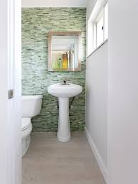 bathroom with green tile