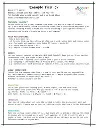 Resume Templates For Teens Unique Resume Objective For First Job First Resume Example Resume Templates