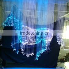 fiber optic chandelier colour change optic chandelier with remote controller red fiber optic lamps for