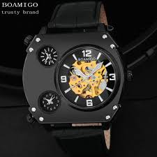 aliexpress com buy 2015 new watches men luxury brand boamigo 3 aliexpress com buy 2015 new watches men luxury brand boamigo 3 time zone sports watches automatic mechanical quartz watch leather band wristwatches from