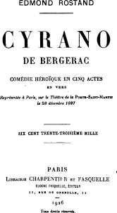 cyrano de bergerac by edmond rostand select a piece of artwork inspired by the play and write a critical paragraph analyzing it your topic sentence should state clearly the effect of the
