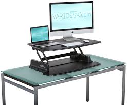 portable standing desk dark