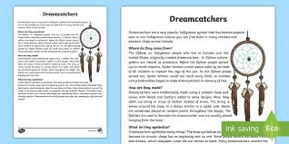 Dream Catcher Symbolism Adorable All About Dream Catchers Fact Sheet Dream Catcher