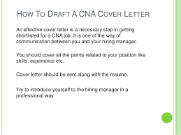 make - Cover Letter For A Cna