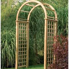 Small Picture Florence wooden garden arch with round top design