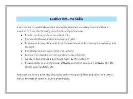 Cashier Responsibilities Resume Basic Resume Template Pythonic Me