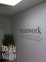 teamwork definition wall decal business vinyl wall art on business logo wall art with teamwork definition business wall decals vinyl art stickers