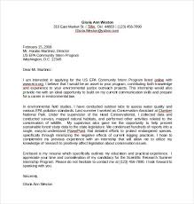 Simple Cover Letter for Internship Word Template Free