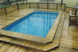 Wooden Pool Decks Pool Astonishing Backyard Landscaping Design And Decoration Using