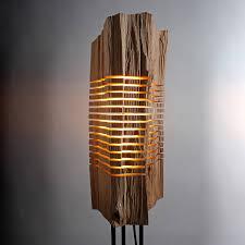 reclaimed lighting. Reclaimed Wood Light Sculpture // Large Floor Lighting L