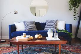 Clever Ideas Blue Sofa Living Room Interesting Best Decorating A