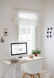 home officeminimalist white small home office. Black And White Decorating, Wooden Furniture Bright Accents In Pink Color, Small Home Office Design Minimalist Style Officeminimalist