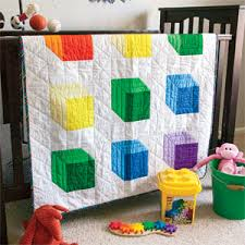 Baby Block Quilt Patterns Inspiration Baby Quilt Patterns Tumbling Blocks Unique Bright On White Baby