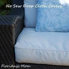 no sew drop cloth cushion covers