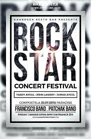 Concert Flyer Templates Free Band Flyer Template Mymuso Co