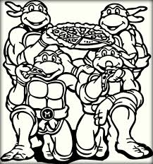 Small Picture Beautiful Ninja Turtle Pizza Coloring Pages Gallery Coloring
