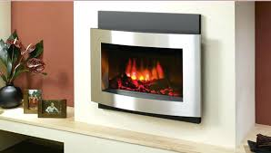 stanton electric wall mount fireplace with heater modern flame ambiance 50