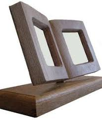 Single Book Display Stand Art of Wood Small 100x100 Presentation Plinth Set of 100 cushion style 89