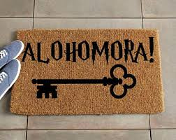 alohomora doormat harry potter doormat harry potter decor custom