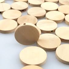 wooden disks natural flat wood round beads unfinished chips circles discs tags craft uk wooden disks