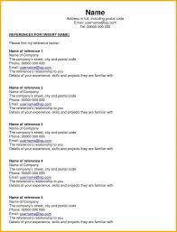 Reference Page For Resume Pdf Nursing Sample Personal Format A