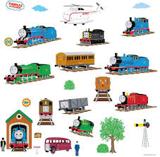 Thomas The Tank Engine and Friends Peel and Stick Wall Decals ...