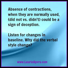 Use Of Contractions When Being Untruthful Using Words To Uncover