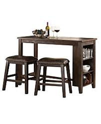 three piece dining set. Spencer 3-Piece Counter Height Dining Set With Backless Stools Three Piece