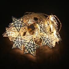 Lichterkette 2 Meter20 Led Deko Sterne Metall Sternenlichterkette Warmweiß Für Weihnachten Party Deko Schmuck Fensterdeko Schaufenster Girlande